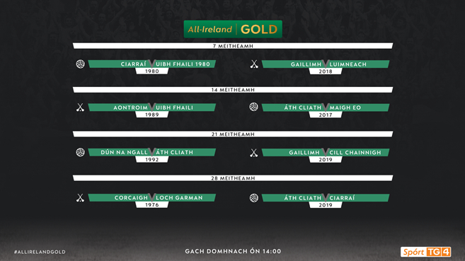 TG4 unveil schedule of All Ireland Gold GAA matches for June | Press Release | TG4